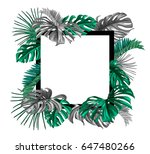 a border frame design decorated ... | Shutterstock .eps vector #647480266