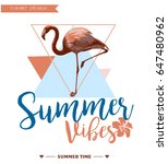 tropical  background. summer... | Shutterstock .eps vector #647480962