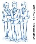 modern business team looking... | Shutterstock .eps vector #647492305