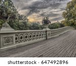 the bow bridge  is a cast iron... | Shutterstock . vector #647492896