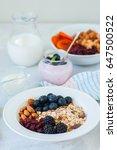 healthy breakfast concept.... | Shutterstock . vector #647500522