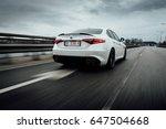 riga  march 17  2017   white...   Shutterstock . vector #647504668
