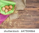 rural eco background with brown ...   Shutterstock . vector #647504866