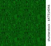 green line bitcoin seamless... | Shutterstock .eps vector #647514046