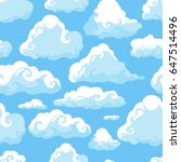 blue sky with white clouds.... | Shutterstock . vector #647514496