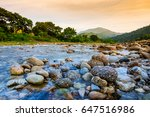 small river with stone at ban... | Shutterstock . vector #647516986