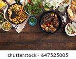 grilled steak  grilled...   Shutterstock . vector #647525005