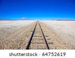 Train Tracks In Desert  Bolivi...