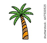 tropical palm icon | Shutterstock .eps vector #647533525