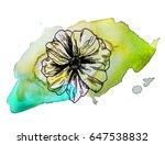 illustration made by ink on... | Shutterstock . vector #647538832