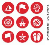 set of 9 holiday filled icons...   Shutterstock .eps vector #647539546