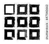 vector brush strokes square of... | Shutterstock .eps vector #647540662