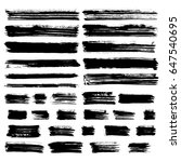 black vector brush strokes of... | Shutterstock .eps vector #647540695
