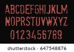red grunge font   vector   Shutterstock .eps vector #647548876