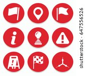 set of 9 mark filled icons such ...   Shutterstock .eps vector #647556526