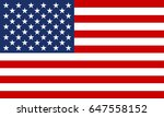 usa flag. united states of... | Shutterstock . vector #647558152