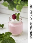 berry mousse in a jar | Shutterstock . vector #647561782