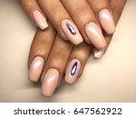 beauty nails   female hands   Shutterstock . vector #647562922