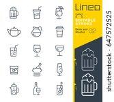lineo editable stroke   drink... | Shutterstock .eps vector #647572525