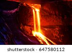 2010 eruption in fimmv r uh ls  ... | Shutterstock . vector #647580112