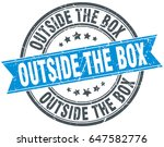 outside the box round grunge... | Shutterstock .eps vector #647582776
