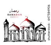 vector illustration for ramadan ... | Shutterstock .eps vector #647584906
