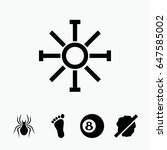 set of 5 creative filled icons...   Shutterstock .eps vector #647585002