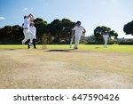 players playing cricket match... | Shutterstock . vector #647590426
