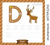 Letter D Uppercase Tracing...