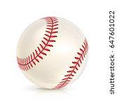 baseball leather ball close up... | Shutterstock .eps vector #647601022