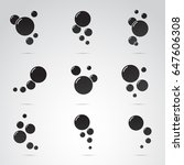 bubble icon set isolated on... | Shutterstock .eps vector #647606308