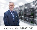 portrait of senior businessman... | Shutterstock . vector #647611045