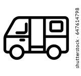van line vector icon | Shutterstock .eps vector #647614798