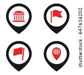 location icon. set of 4...   Shutterstock .eps vector #647616202