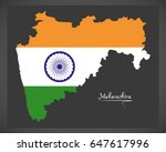 maharashtra map with indian...   Shutterstock .eps vector #647617996