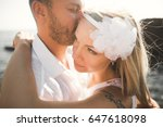 romantic loving couple posing... | Shutterstock . vector #647618098