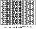 set of ten seamless endless... | Shutterstock .eps vector #647620126