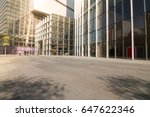 empty road and modern business...   Shutterstock . vector #647622346
