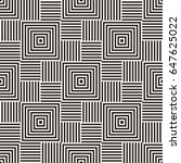 stylish lines maze lattice.... | Shutterstock .eps vector #647625022