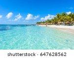 riviera maya   paradise beaches ... | Shutterstock . vector #647628562