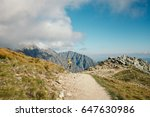 tatra mountain hiking trail.... | Shutterstock . vector #647630986