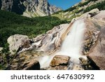 waterfall in tatra mountain... | Shutterstock . vector #647630992
