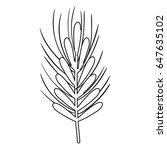 silhouette healthy wheat organ... | Shutterstock .eps vector #647635102