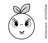 silhouette kawaii nice shy... | Shutterstock .eps vector #647635246