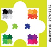 vector puzzle shape | Shutterstock .eps vector #647648992