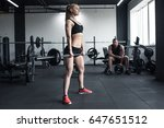 woman doing strength training... | Shutterstock . vector #647651512