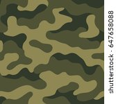seamless camouflage pattern....   Shutterstock .eps vector #647658088