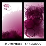 banners with background wine... | Shutterstock .eps vector #647660002