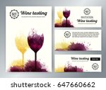 wine glasses with background... | Shutterstock .eps vector #647660662