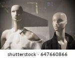 mannequins inside a fashion... | Shutterstock . vector #647660866